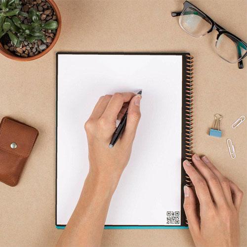 cahier intelligent réutilisable rocketbook Everlast Core avec stylo gel FriXion