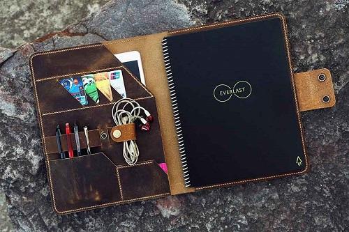 cahier réutilisable rockebook everlast core avec protège cahier