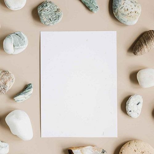papier de pierre pour cahier réutilisable