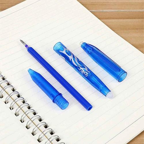 stylo effaçable encre bleue