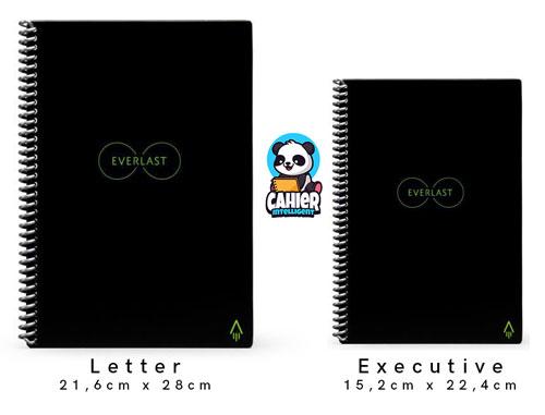 comparaison cahier réutilisable Rocketbook Everlast A4 et A5