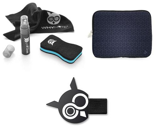 Accessoires Cahier réutilisable Whynote housse porte style et kit de nettoyage