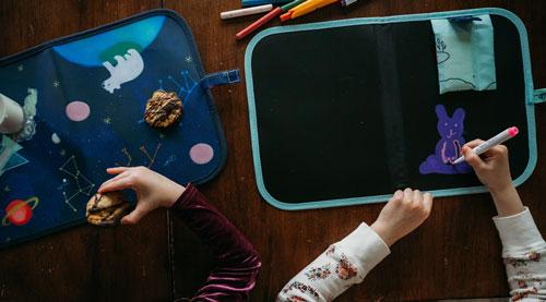 Ardoise pliable réutilisable pour enfant pour dessin