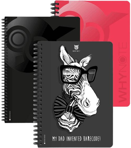Cahier réutilisable Whynote personnalisable couleurs designs et logo