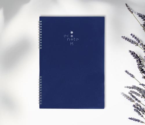 Cahier spirale réutilisable A4 bleu Econotebk