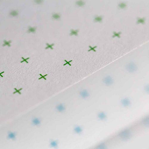 page avec croix verte et bleue de cahier reutilisable 1
